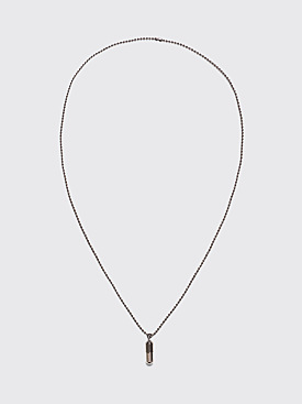 Jil Sander Pill Pendant Necklace Gunmetal