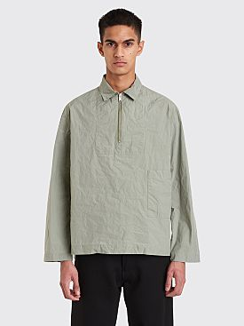 Jil Sander Santorini Half Zip Shirt Medium Green