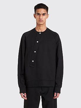 Jil Sander Asymmetrical Button Sweatshirt Black