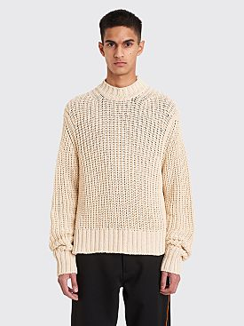 Jil Sander Knitted Crew Neck Sweater Natural