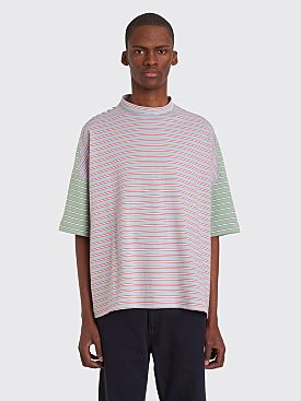 Jil Sander Stripe Panel T-shirt Light Blue / White