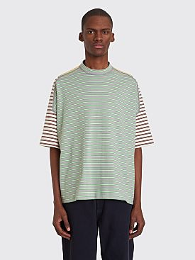 Jil Sander Stripe Panel T-shirt Grey / Yellow