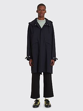 Jil Sander Sheffield Wool Trench Jacket Navy