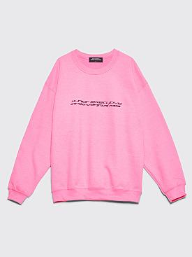 Junior Executive Hypnotism Crew Neck Sweatshirt Safety Pink
