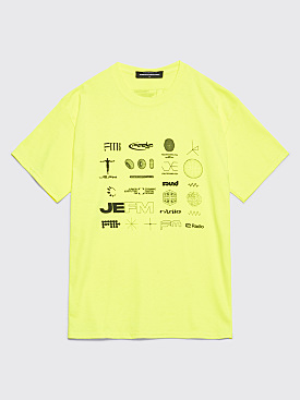 Junior Executive FM Grid T-shirt Safety Green