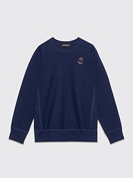 Junior Executive Lux Logo Crew Neck Sweatshirt Navy