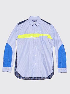 Junya Watanabe MAN Reflective Patch Shirt Blue