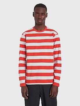 Junya Watanabe MAN LS T-shirt Stripe Red / Grey