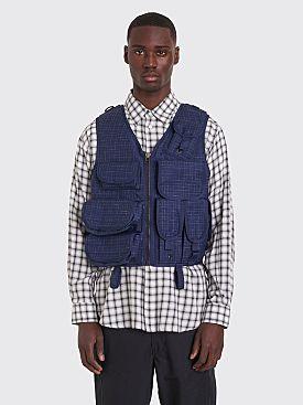 Junya Watanabe MAN Wool Vest Checkered Navy