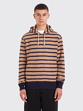 Junya Watanabe MAN Hooded Wool Sweater Brown / Navy