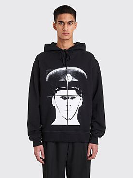 JW Anderson Gilbert + George Policeman Heavy Print Hooded Sweatshirt Black