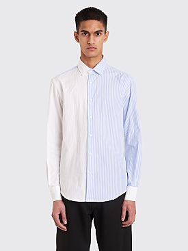 JW Anderson Pannelled Striped And Oxford Shirt White