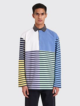 JW Anderson Patchwork Rugby Jersey China Blue