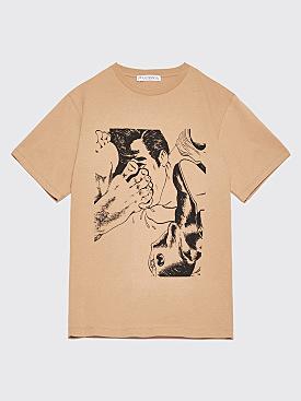 JW Anderson Footprint T-Shirt Camel