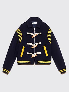 JW Anderson Varsity Wool Jacket Navy