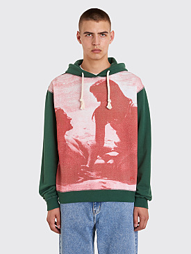 JW Anderson Californian Lovers Print Hooded Sweatshirt Shamrock