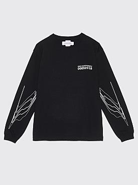 Kiko Kostadinov 0005 Graphic Long Sleeve T-Shirt Black