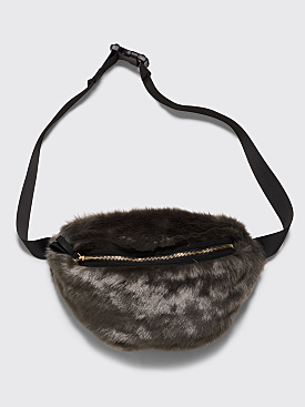 Landlord New York Faux Fur Waist Bag Grey