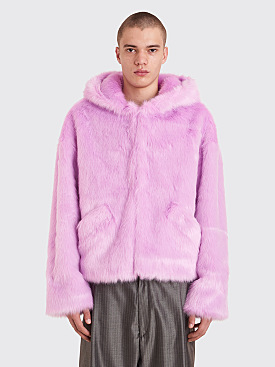 Landlord New York Faux Fur Hooded Parka Lilac
