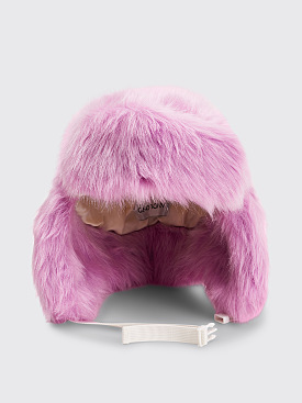 Landlord New York Faux Fur Trapper Hat Lilac