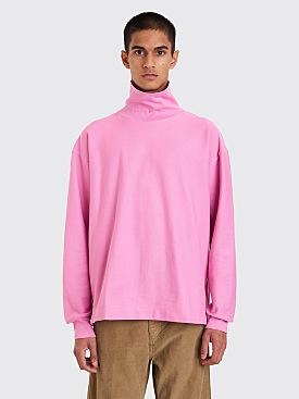 Lemaire Turtleneck Sweatshirt Pink