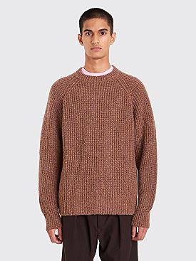 Lemaire Rib Sweater Havana / Saffron