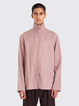 Lemaire Zipped Shirt Rosewood