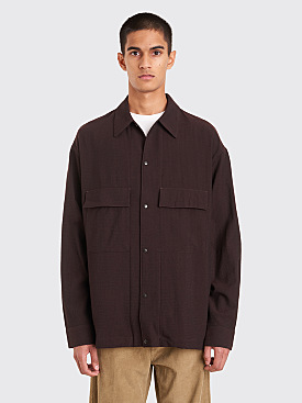 Lemaire 4 Pocket Overshirt Dark Brown