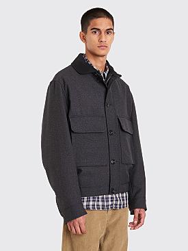 Lemaire Wadded Jacket Slate Grey