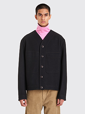 Lemaire V-Neck Liner Jacket Black