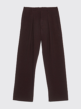 Lemaire Elasticated Pants Dark Brown