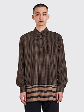 Lemaire Straight Collar Shirt Brown