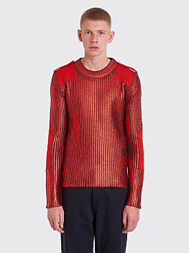 Maison Margiela Painted Rib Knit Sweater Red