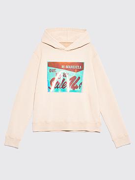 Maison Margiela Hooded Patch Logo Sweatshirt Beige