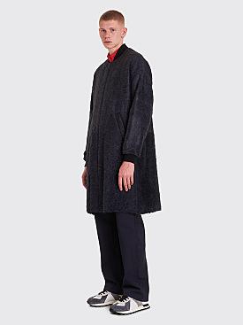 Maison Margiela Hairy Wool Coat Grey