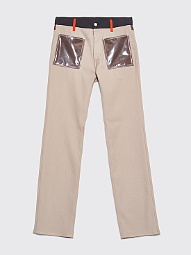 Maison Margiela 5-Pocket Colorblock Pants Beige