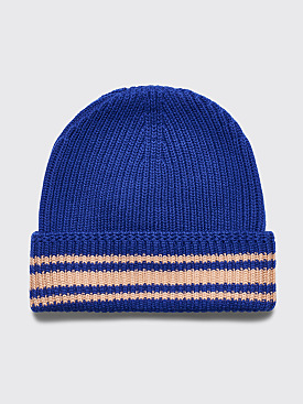Maison Margiela Knitted Beanie Stripe Blue
