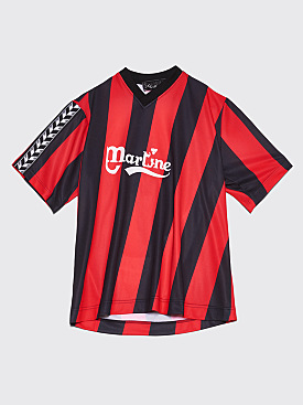 Martine Rose Twist Football Top Black / Red
