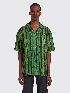 Martine Rose Hawaiian Linen Shirt Green