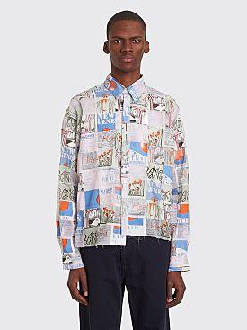 Martine Rose Patchwork Flyer Shirt Multicolor