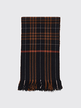 Margaret Howell Giacometti Wool Scarf Black / Brown