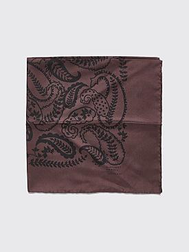 Margaret Howell Oversized Bandana Silk Twill Aubergine