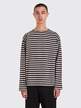 Margaret Howell MHL Matelot Long Sleeve T-Shirt Grey / Chalk