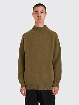 Margaret Howell Winter Crew Neck Sweater Olive