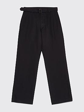 Margaret Howell MHL Self Belt Pants Cotton Drill Black