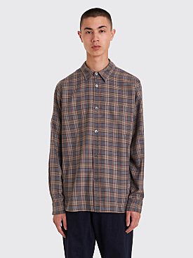 Margaret Howell Minimal Shirt Tartan Brown / Grey