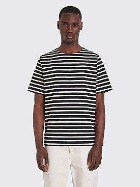 Margaret Howell MHL Matelot Naval T-shirt Stripe Black / White