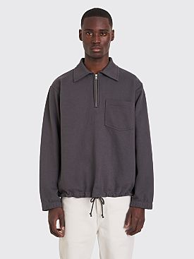 Margaret Howell MHL Track Top Loopback Jersey Sweater Grey