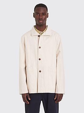 Margaret Howell MHL Stand Collar Denim Jacket Natural