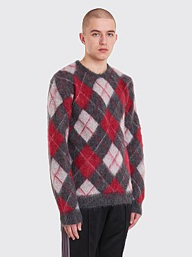 Needles Mohair Argyle Sweater Charcoal